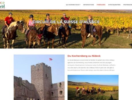 Alsace à cheval